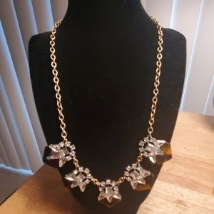 J CREW FACTORY TORTOISE WITH CRYSTALS NECKLACE